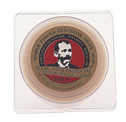 Four Bars Col. Conk Traditional Bay Rum shave soap