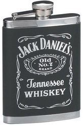 Jack Daniels Flask with Leatherette Cover