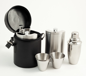 Travel Martini Set w/ Black Case