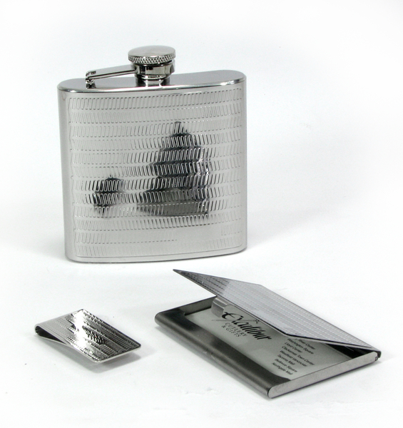 Flask money clip and business card holder set colourmoves