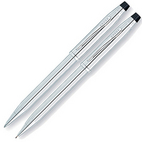 Image CROSS  Lustrous Chrome Pen and Pencil Set