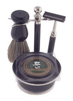 Colonel Conk Black and Chrome Shaving Set