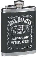 Image Cornell Jack Daniels 6oz Leatherette Cover Flask