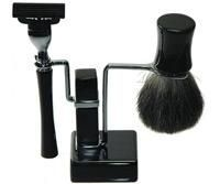 Mach III Deluxe Badger Black Shave Set