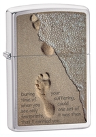Image Zippo 'Footprints in the Sand' Lighter