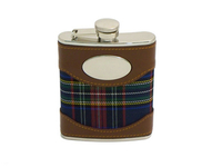 Image Plaid Liquor Flask, 6 oz.
