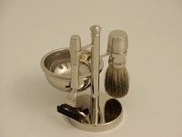 Image Deluxe 4 pc. Badger Stainless Shave Set