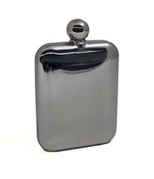 Image 6 oz. Rounded Stainless Steel Flask