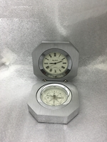 Image Stainless Steel Desktop Clock with Compass