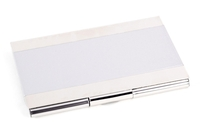 Image Silver Plated Business Card Holder