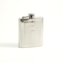 7oz Stainless Steel Flask, Weave