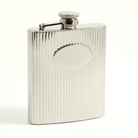 Image 7oz Stainless Steel Medallion Flask