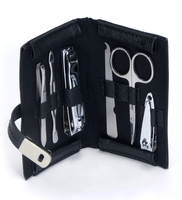 Image 6 Piece Manicure Set w/ Magnetic Snap Case, Black