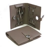 Image 5 pc Manicure Set, Stone Leather