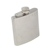 Image Stainless Steel 6oz Rhinestone Liquor Flask