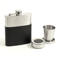 Bey-Berk 7 oz Flask and Collapsible Cup Set