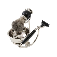 Image Black Chrome Mach 3 Complete Shaving Set