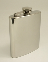 Image 7 oz. Stainless Plain Liquor Flask