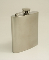 Image 7 oz. Brushed Stainless Liquor Flask with Captive Lid