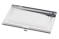 Image Business Card Case, Silver with Lacquer Plated