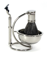 Bey-Berk Badger Stainless Shave Set