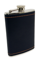 Image 8 oz. Leather-Bound Flask