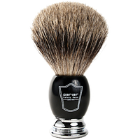 Image Ebony and Chrome Pure Badger Shave Brush