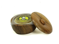 Image Colonel Conk Dark Wood Soap Bowl w/Glycerin Soap