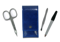 Image Dovo 3-Piece Pocket Manicure Kit, Royal Blue