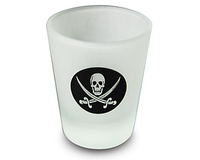 Image Frosted Pirate Shot Glass