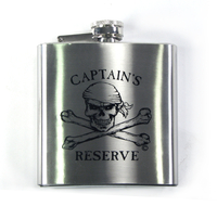 Pirate 'Captains Reserve' Flask
