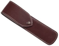 Image DOVO Straight Razor Brown Leather Sheath