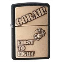 Image Military Marine Corp Stone Finish Windproof Pocket Lighter