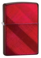 Image Zippo-28353-Ribbon-Candy-Apple-Red-Diagonal-Weave-