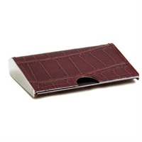 Image Tarnish Proof Leather Pocket Business Card Holder