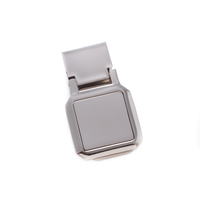 Image Square Silver Money Clip