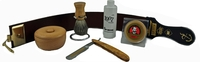 Image Dovo Olivewood Stainless Straight Razor Shaving Kit