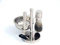 Image 4 PC Mach III Badger hair brush shaving set