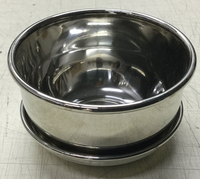 Image Silver Shave Soap bowl with resting plate