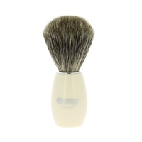 Image Dovo White Acrylic Pure Badger Hair Shaving Brush