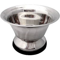 Image Large Stainless Steel Shaving Soap Bowl