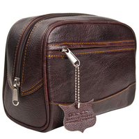 Image Deluxe Leather Small Toiletry Bag (Dopp Kit) from Parker Safety Razor