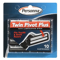 Image Personna TWIN PIVOT Plus Cartridges with Lubricating Strip for Gillette Atra