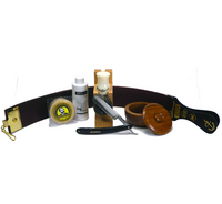 Wooden 6pc Straight Razor Starter Set