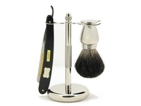 Image Deluxe Badger and Ebony Razor Set