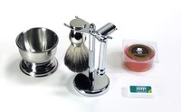 Executive Chrome Safety Razor Wet Shave Kit