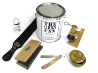 Image The Can Shave Wooden Straight Razor Set