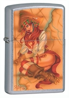 Image Zippo Nautical Naughty Lighter, Street Chrome