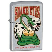 Image Zippo 'Snake Eyes' Dice Lighter, Chrome
