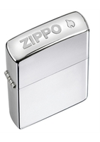 Image Zippo Crown Stamp Lighter, Polished Chrome